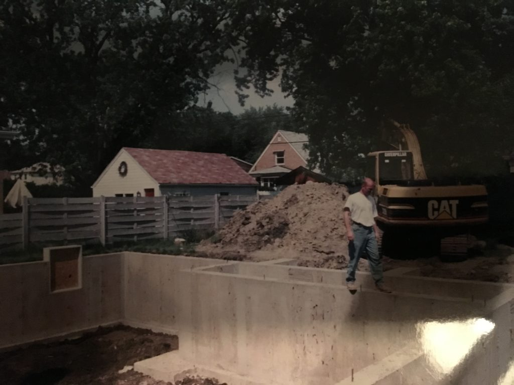 Start of construction of renovated home